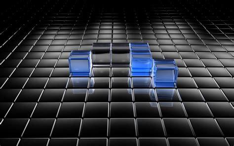 The Black And Blue L by Vpinfobr 3d Wallpaper Quadriculado Azul