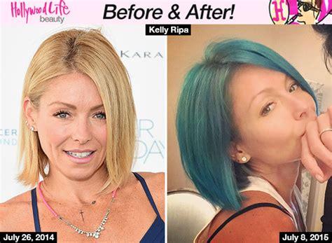 kelly ripa dyes her hair blue photo kelly ripa blue kelly ripa hair july 2015 hairstyle gallery
