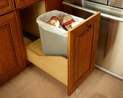 Trash Can Drawer by Garbage Can Slide Out In A Drawer Great Ideas