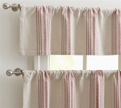 Pottery Barn Kitchen Curtains Stripe Cafe Curtain Pottery Barn