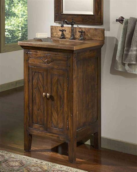 Rustic Bathroom Vanity Cabinets Rustic Bathroom Vanities Country Rustic Design Idea Vessel Sink Plus Wall Mirror Diy Bathroom
