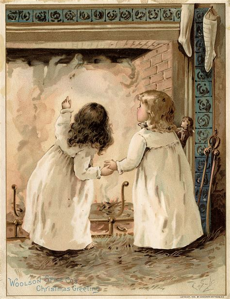 christmas eve images victorian trade cards  graphics fairy