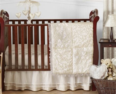 Ivory Crib Bedding Chagne And Ivory Baby Bedding 11pc Crib Set By Sweet Jojo Designs Only 229 99