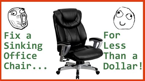 stop chair from sinking fix a sinking office chair for less than a dollar