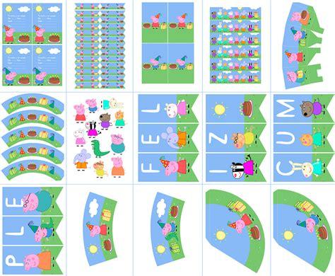 kit imprimible de peppa pig peppa pig y sus amigos kit imprimible gratis dale detalles