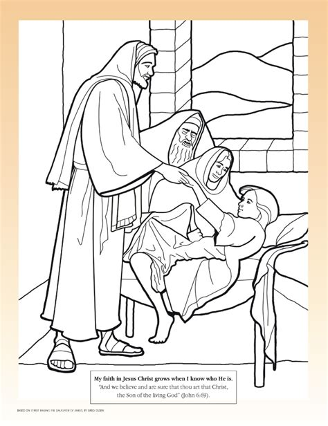 coloring page jesus lds jesus healing the sick