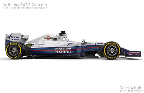 martini livery f1 awesome redesign of the williams martini livery