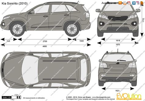 the blueprints vector drawing kia sorento