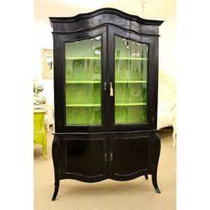 black green china cabinet there s no place like home