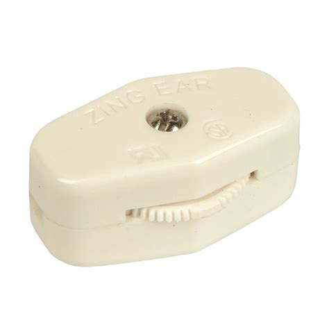Shop Portfolio White In Line Cord Light Switch At Lowes Com
