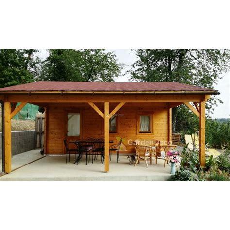 tettoia garage garage in legno con tettoia 6 8x5x6 per auto da giardino
