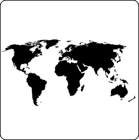world map black and white vector black world map vector