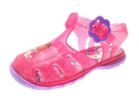 jelly sandals size 3 pink doc mcstuffins glitter jelly shoes