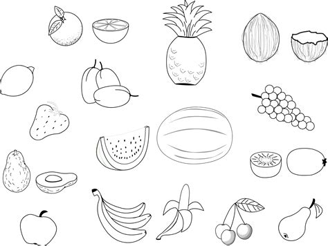Fruit Coloring Pages free printable fruit coloring pages for