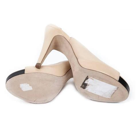 High Heels At11 Hitam 38 high sandals chanel size 38fr in beige lambskin for sale at 1stdibs