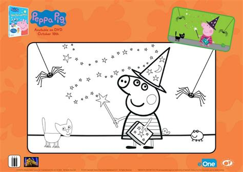 peppa pig halloween coloring pages free peppa pig halloween coloring page mama likes this