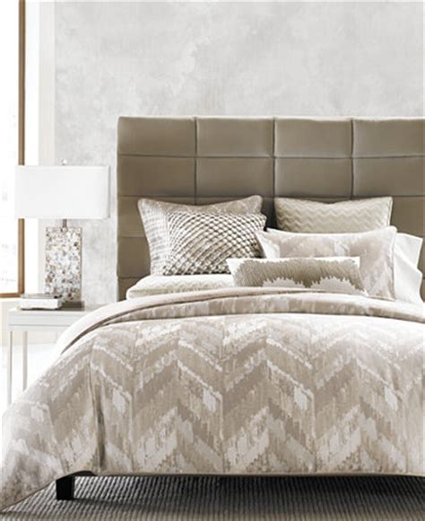 Hotel Bedding Collection Sets Hotel Collection Distressed Chevron Bedding Collection Only At Macy S Bedding Collections