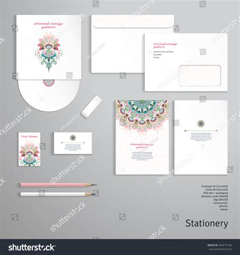 business card envelope template vector vector identity templates envelope business card stock