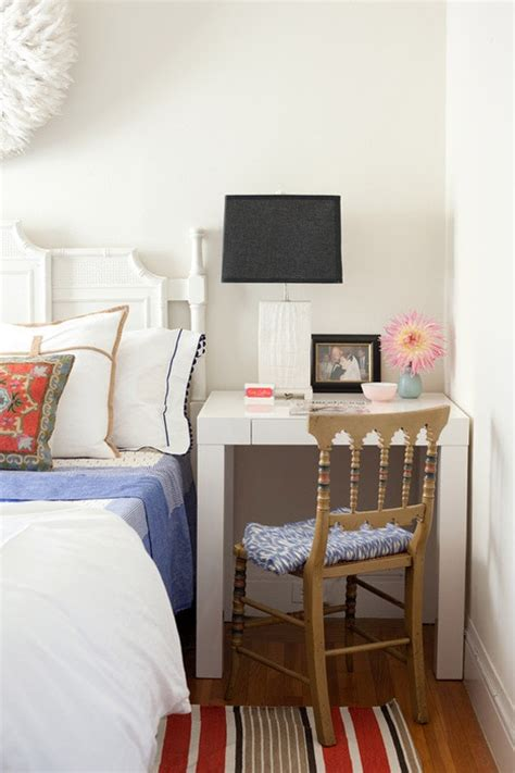 small double bedroom decorating ideas small bedroom decorating ideas desks doing double duty as nightstands apartment therapy