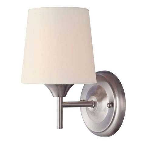 Westinghouse Light Fixtures Westinghouse Mews 1 Light Brushed Nickel Wall Fixture 6226000 The Home Depot