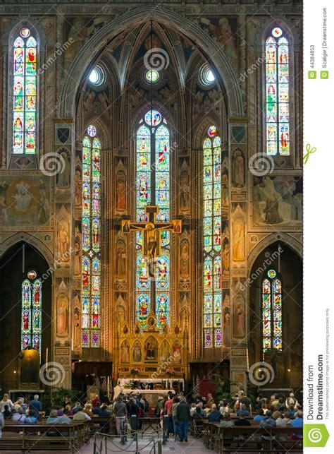 santa croce interno l interno della basilica di santa croce a firenze italia