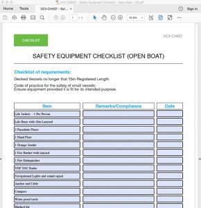 the open boat crane pdf equipment checklist video equipment checklist templatepdf
