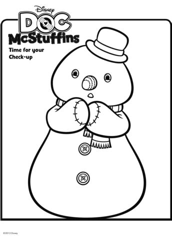 doc mcstuffins chilly coloring pages chilly the snowman from doc mcstuffins coloring page