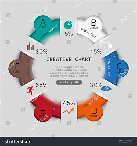 How To Make A Pie Chart On Paper - pie chart paper style template infographics stock vector