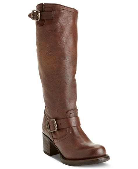 frye boots for frye s vera slouch boots in brown maple lyst