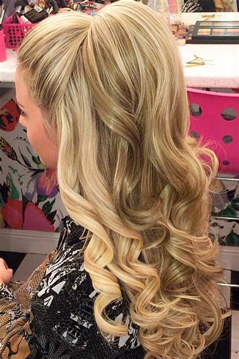 nice hairstyles hair up 18 nice holiday half up hairstyles for long hair