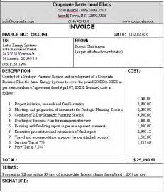 Typical Invoice Template by Business Invoice Sle Format For A Typical Business