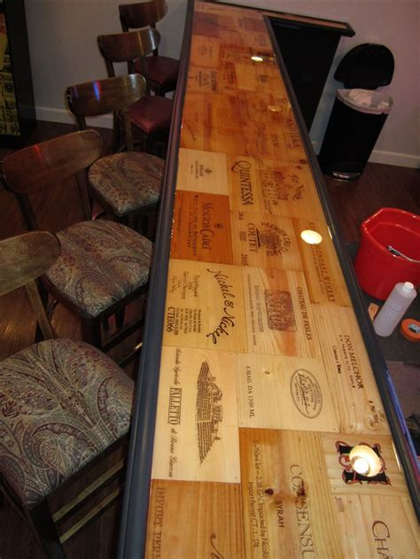 epoxy for bar top epoxy wine box bar top furniture ideas pinterest bar tops crates and bar
