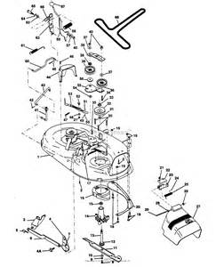poulan pp1242 tractor parts diagram for mower deck 42 quot