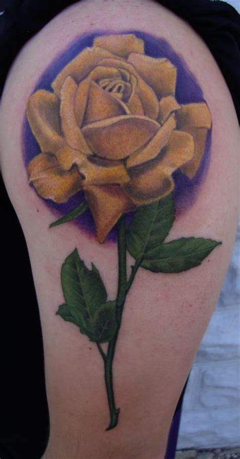 yellow rose tattoo shop tattoos yellow 107860