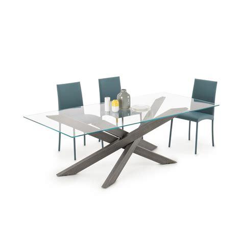 tavolo soggiorno vetro tavolo in vetro e metallo connor glass homeplaneur