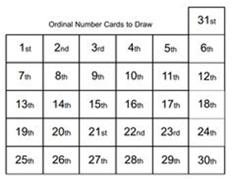 free printable ordinal number cards 1000 images about ordinal numbers on pinterest ordinal