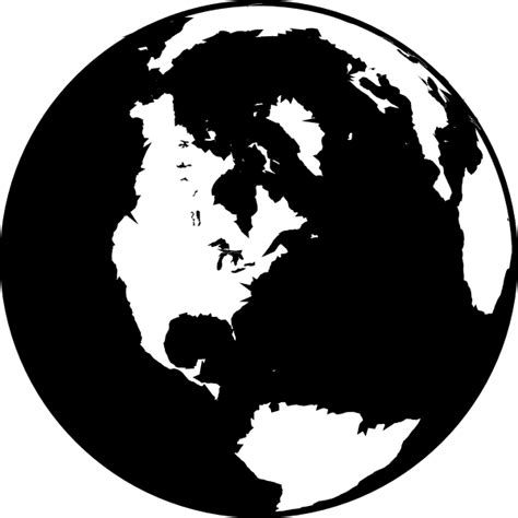 World Globe Clipart Black And White black and white globe clip at clker vector clip royalty free domain