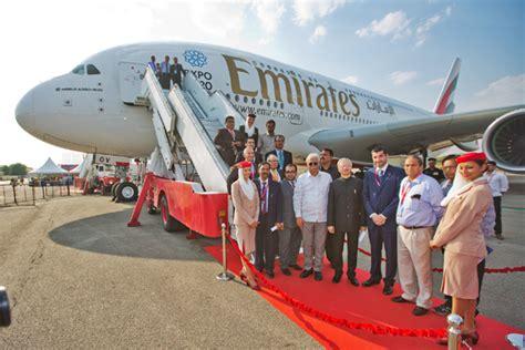 emirates hyderabad emirates a380 returns to hyderabad