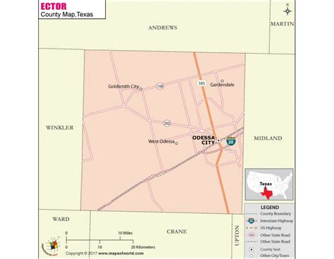 Ector County Search Buy Printed Ector County Map