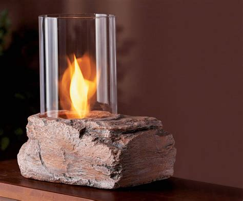 Real flame ledgerock tabletop firepit the green head