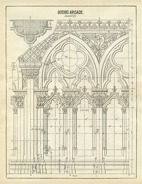 free architectural design architecture printable gothic arches diagram the