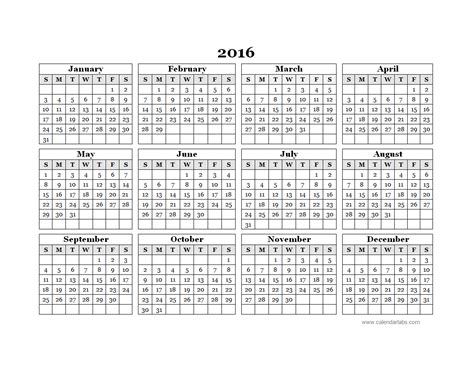 calendar 2016 only printable yearly 2016 blank calendar template new calendar template site