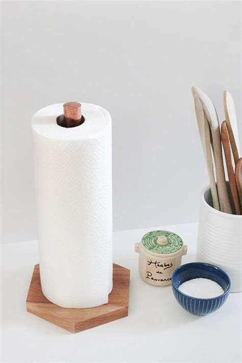 How To Make A Paper Towel Holder Out Of Wood - 15 easy diy kitchen projects homelovr