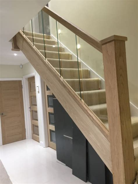 Glass Landing Banister by 60 Best Images About Stairs On Wood Handrail