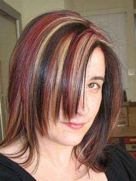 Pink Highlighted Hair Over 50   50 best images about hair on pinterest