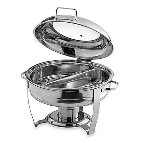 chafing dish bed bath and beyond round 6 quart divided chafing dish bed bath beyond