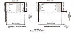 Standard Dimensions Of A Bathtub Access Required Bathtub Clearances