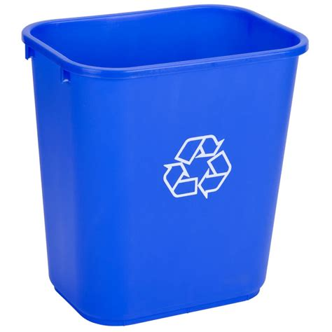 waste basket 28 qt blue recycling wastebasket