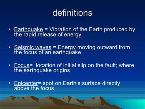 earthquake meaning earthquakes