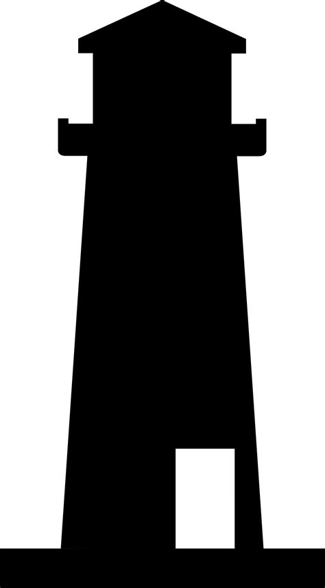 Silhouette clipart lighthouse, Silhouette lighthouse